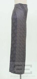 Ann DEMEULEMEESTER Purple Silk Wrap Skirt Size 40