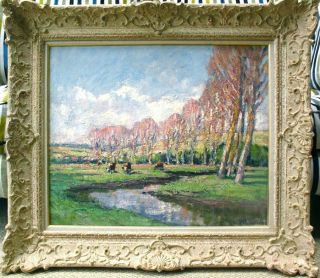 Andre Prevot Valeri 1890 1959 Huge Signed French Impressionist Oil