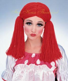 Raggedy Ann Rag Doll Girl Wig for Child Adult 50825