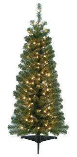 Adirondack Pine Pre Lit Artificial Christmas Tree 4 Ft