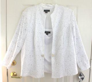 Richards White Lace Jacket w Matching Tank $118