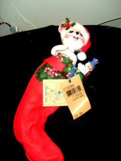 Annalee Christmas Mouse Doll in Stocking New Last One 10 Watchers