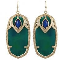 Kendra Scott Darby Earrings Cactus 14k Gold Plated Green Blue Agate