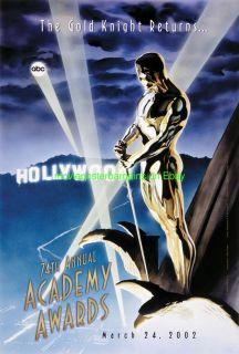 Academy Awards 74th Ann 2002 Oscars Movie Poster