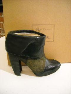 matt bernson triad black gold patchwork ankle boots 7 5