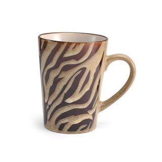 Pfaltzgraff Everyday Animal Print Mug Cream Brown