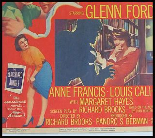 JUNGLE * Movie Poster 1955 Glenn Ford, Anne Francis School Teens