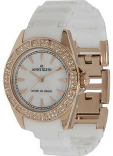 Womens Anne Klein MOP Ceramic Watch 109682RGWT