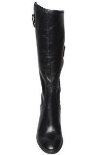 Anne Klein Womens Boots Brenton Black Leather Sz 7 M