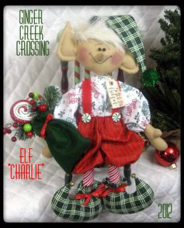 Primitive Raggedy Christmas 16 Elf Charlie 2012 Ginger Creek