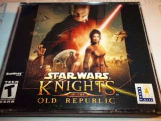 STAR WARS KNIGHTS OF E OLD REPUBLIC COMPUTER GAME PC GAME RARE
