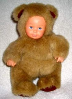 16 Anne Geddes Baby Doll in Plush Brown Bear Outfit