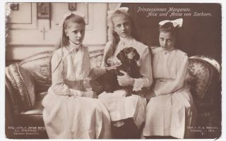 Prinzessinnen Margarete Alix Anna Von Sachsen Photo Postcard