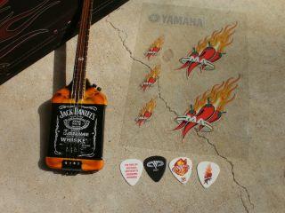 Michael Anthony VAN HALEN tiny JACK DANIELS guitar replica with PICKS