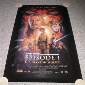 Star Wars Episode I The Phantom Poster One Sheet Signed by Drew