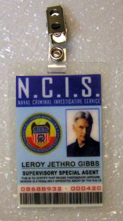 NCIS TV Series ID Badge Special Agent Jethro Gibbs