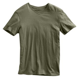 Marc Anthony Guard Green Solid Slubbed V Neck T Shirt Mens L Large New