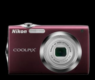 Plum Nikon Coolpix S3000 camera 12MP 4X zoom SD card, charger, battery