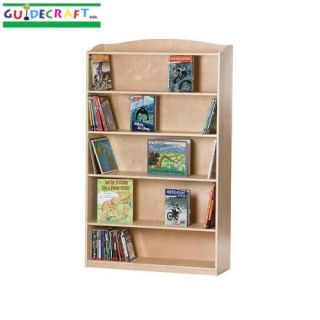 New Wooden Kids 1 Sided 6 Shelf Wood Bookcase Natural