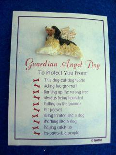 Ganz Cocker Spaniel Guardian Angel Dog Pin New on Card