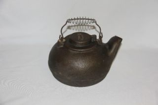 vintage antique wagner wear cast iron tea kettle