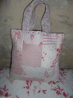 HAND STITCHED ANTIQUE QUILT TOTE BAG FROM ANTIQUE QUILTS FRENCH