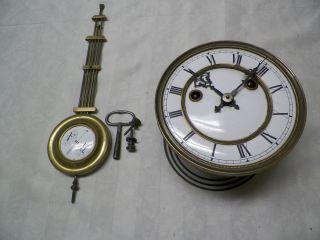 Antique 1800s Gustav Becker Silesa, Key Wind Regulator Wall Clock