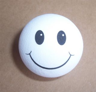 of 2 WHITE SMILEY HAPPY FACE Gift Antenna Toppers Balls Car Accessory