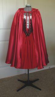 Little Red Riding Hood Adult Halloween Costume Dress   Handmade