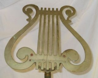 Vintage Antique Adjustable Brass Harp Music Sheet Stand