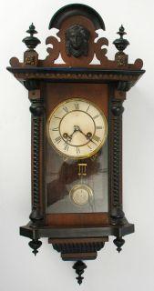 Antique German Junghans Pendulum Wall Clock