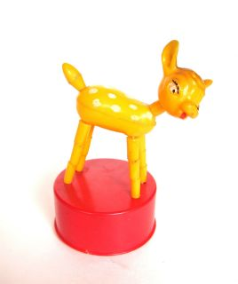 Extremely rare vintage MARX PUSH UP PUPPET TOY BAMBI DEER HONG KONG no