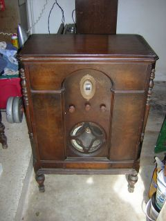 1928 Majestic Antique Tube Radio Floor Model 70B