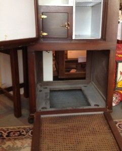 Rare Oak Kelvinator Antique Refrigerator w/ Combination Safe