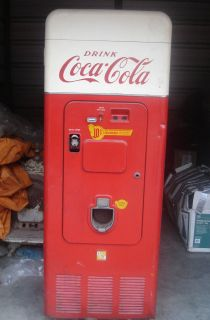 Vintage Antique Coke Coca Cola Soda Vending Machine 1950S