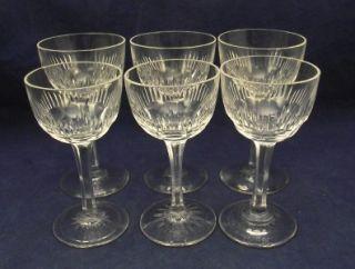 antique cut glass wine cordial goblets blaze pattern