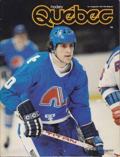 1981 82 Quebec Hockey Magazine Anton Stastny French J