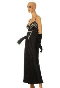 New Antonio Berardi Gorgeous Black Silk Embroidered Cocktail Dress 44