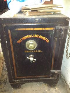 Antique The Trumbull Safe Vault Floor Safe