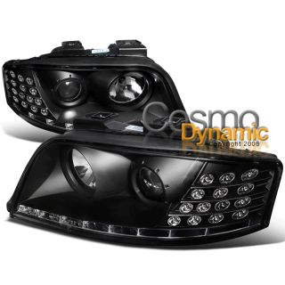 02 05 Audi A6 R8 Style LED Eyelid Projector Headlights w LED Turn
