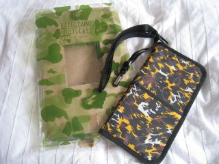 Bathing Ape BAPE Camo Leopard Logo Print Passport Card holder Bag Case