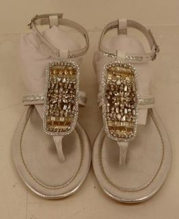 Apepazza Womens Canarie Sandal 40 M Silver White $150