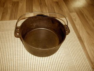 Large Antique Cast Iron Kettle Free Shipping