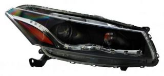 Anzo Black Amber Audi R8 Style Projector Headlights 08 11 Honda Accord