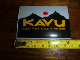 Kavu Clothing Sticker Decal Small Rectangle New