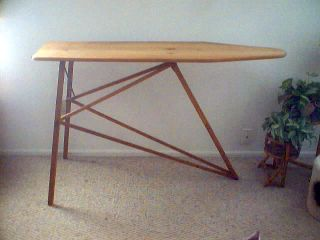 Vintage Antique National Washboard Co Full Size Wooden Ironing Board