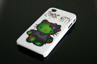 White Apple iPhone 4 4S 4th Gen Hello Kitty Zombie Scary Dead Case 8