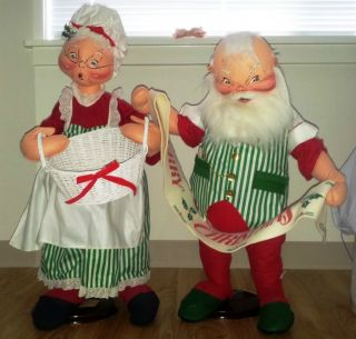 Annalee 30 1993 Santa Mr Mrs Claus Tag 6228 6221 Anna Lee Dolls