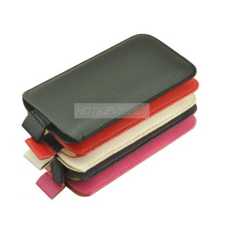Colors Pocket Leather Pouch Case for Apple iPod Touch 5 iPhone 5