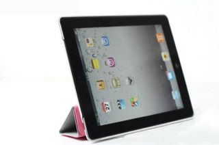 magnetic smart cover hard case for apple ipad 3 3rd